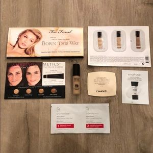 Makeup lot, foundation samples, primer, daily peel